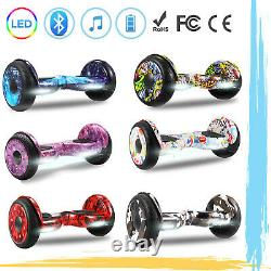10'' Hoverboard Self Balancing Electric Scooter with Bluetooth, LED Light