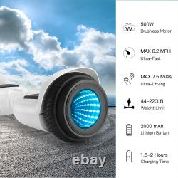 500W Hover Board 6.5 Inch Flash Electric Scooter Self Balance Board Kids Gift UK