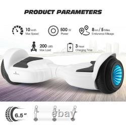 6.5NEW Adjustable Hover board Balance Electric Hover Scooter LED Lights withBAG