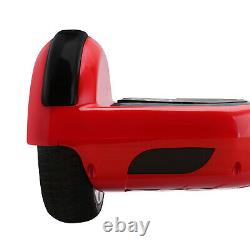 6.5'' 2-Wheels Electric Hover Board Bluetooth LED Self Balancing Scooter RED