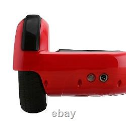 6.5'' 2-Wheels Electric Hover Board Bluetooth LED Self Balancing Scooter RED UK