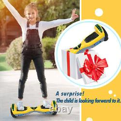 6.5'' 2 Wheels Hoverboard Self Balancing Electric Scooter +Bluetooth +LED Lights