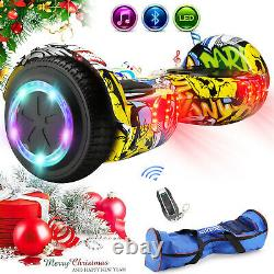 6.5 Bluetooth Hover Board Self Balancing Scooter Electric With Bag Remote Key