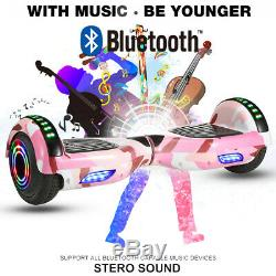 6.5'' Bluetooth Self Balance Scooter E-scooter 2 wheels Electric Balance Pink UK