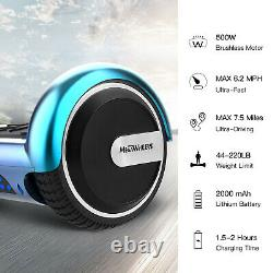 6.5'' Bluetooth Self Balancing Hover Board Electric Scooter Flash LED + UK Plug