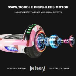 6.5'' Bluetooth Self Balancing Hover Board Electric Scooter Flash LED+UK Plug TP
