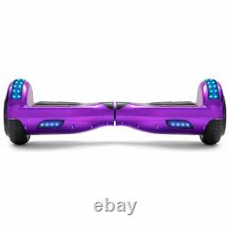6.5'' Chrome Purple Hoverboard Electric Scooter Self-Balancing Skateboard