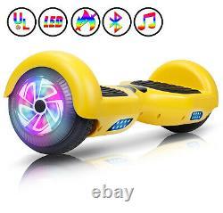 6.5 Electric Scooters Smart Balance Hoverboard Flash 2 Wheels LED Lights UL UK