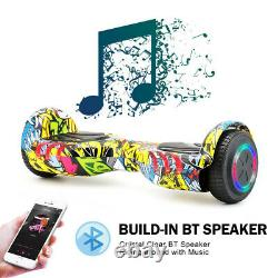 6.5 Electric Self Balance Scooter Hover Board Flash 2Wheels Bluetooth Key+Bag