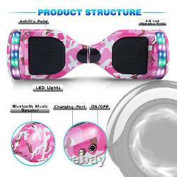 6.5 Inch Hoverboard Self Balancing Board Electric Scooter Camouflage Pink