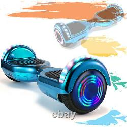 6.5 Inch Hoverboard Self Balancing Board Electric Scooter Chrome Blue