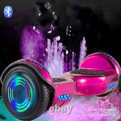 6.5 Inch Self Balancing Board Hoverboard Electric Scooter Bluetooth Pink