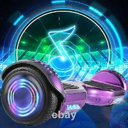6.5 Inch Self Balancing Board Hoverboard Electric Scooter Chrome Purple