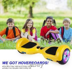 6.5 Kids Electric Scooter Hoverboard LED 2 Wheel Self-balancing Scooter+UK Plug