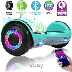 6.5 Kids Electric Self Balancing Scooters LED Bluetooth Hoverboard Skateboard