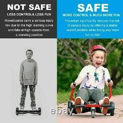 6.5 Kids Hover board Electric Scooter LED Self Balance Board Go Kart HoverKart