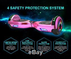 6.5 Self Balancing Electric Hover Scooter +LED Flash Wheels Bluetooth Board Bag