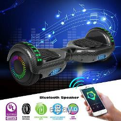 6.5 Self Balancing Hoverboard Electric Scooter with Bluetooth Speaker LED Wheel