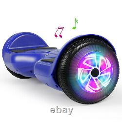 6.5 Wheel Light Hoverboard Bluetooth Electric Scooter Self-Balancing Board Blue