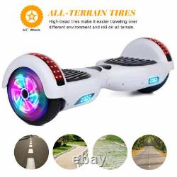 6.5 Wheels Hoverboard Bluetooth Self Balance Electric Scooter Smart Board White