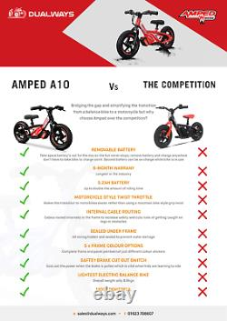 AMPED A10 Electric 5.2AH BATTERY Powered Kids/Childs 3+ Balance/Motor Bikes