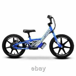 AMPED A16 Electric BATTERY Powered Kids 6+ Balance/Moto bikes BIRTHDAY In Blue