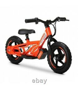 Amped A10 12 Kids Electric Balance Bike Combo Red With Revvi Helmet