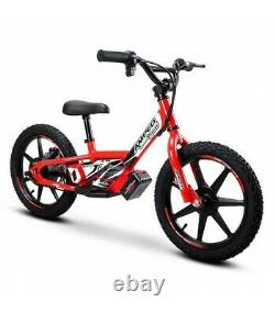 Amped A16 16 Kids Electric Balance Bike Combo Red With Revvi Helmet