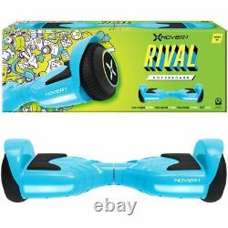 Blue Hoverboard Rival Electric Scooter Self Balance Board LED Lights Hover UK