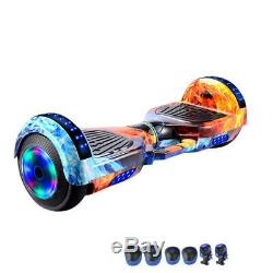Bluetooth Self Balancing Electric Scooter LED Flash Wheels With Protective Gear