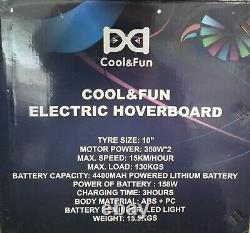 COOL & FUN Electric Hoverboard Balance Scooter 10 Tyres 350W motor 158Wh batt