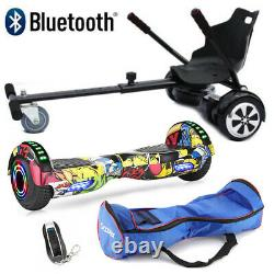 Combo Hoverboard 6.5 Electric Scooters Bluetooth Self Balance Board LED Wheels