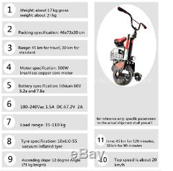 Daibot 500with60v Electric Unicycle Mono One Wheel Self Balance Vehicle