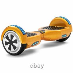 Electric Balance Scooters 6.5 Inch Gold Hoverboard Bluetooth LED For Kids Gifts