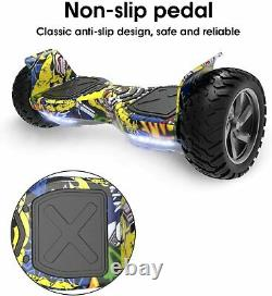 Electric Hummer Hoverboard 8.5 Self Balancing Scooter Bluetooth Speaker