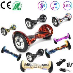 Electric Scooters 10 Hoverboard Balance Board Self Balancing Scooter Bluetooth