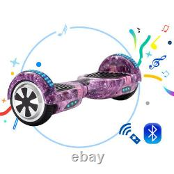 Electric Scooters 6.5 Hoverboard Bluetooth Self Balance Scooter LED 2 Wheel+Bag