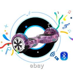 Electric Scooters 6.5 Hoverboard Smart Balance Board E-scooter Bluetooth LED+Bag