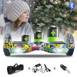 Electric Scooters 6.5 Inch Hip-Hop Hoverboard Bluetooth 2 Wheels Balance E-Board