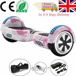 Electric Scooters 6.5 Inch Pink Camo Hoverboard Bluetooth LED Kids Balance Board