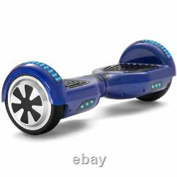 Electric Scooters Blue 6.5 Inch Hoverboard Bluetooth LED Kids Balance Board-UK
