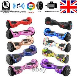 Hover Board 6.5Bluetooth Electric LED Self-Balancing Scooter Kids Super Gift