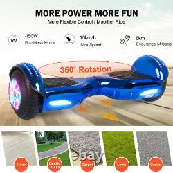 Hover Board 6.5 Inch Electric Scooter Bluetooth Speaker Flash Self Balance Board
