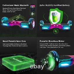Hover Board 6.5 Inch Flash Electric Scooter Bluetooth Speaker Self Balance Board