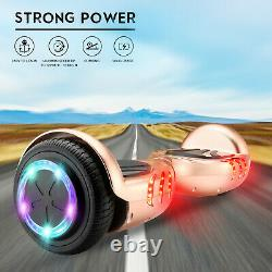 Hover Board Golden 6.5 Inch Bluetooth Electric Scooters LED Kids Balance Board