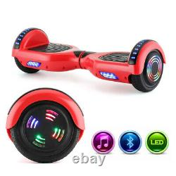 Hover Board RED Bluetooth Electric Scooters LED 2 Wheels Self Balance Board UK