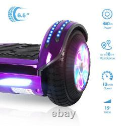 Hover board 6.5 Electric Scooters Bluetooth LED 2 Wheels Lights Balance Board^^