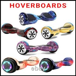 Hoverboard 6.5 Bluetooth Electric Scooters LED Galaxy Chrome Self-Balancing UK
