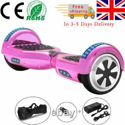 Hoverboard 6.5 Bluetooth Electric Scooters LED Self-Balancing Scooter+Key+Bag