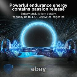 Hoverboard 6.5 Electric Scooters Bluetooth LED 2 Wheels Lights Balance Board